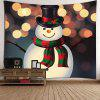 Wall Art Christmas Snowman Patterned Tapestry - COLORFUL