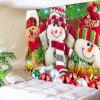 Three Christmas Snowman Dolls Pattern Wall Tapestry - COLORFUL
