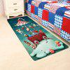 Christmas Cartoon Snail Pattern Skidproof Rug - COLORFUL