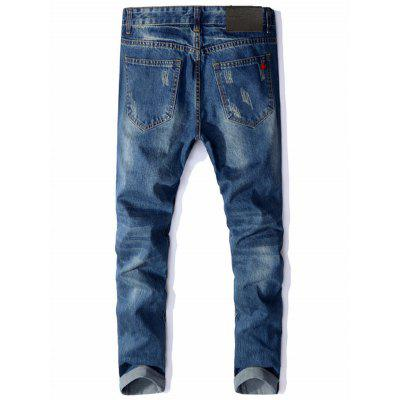 Maple Embellished Zip Fly Distressed JeansMens Pants<br>Maple Embellished Zip Fly Distressed Jeans<br><br>Closure Type: Zipper Fly<br>Fit Type: Regular<br>Material: Cotton, Polyester<br>Package Contents: 1 x Jeans<br>Pant Length: Long Pants<br>Waist Type: Mid<br>Wash: Destroy Wash<br>Weight: 0.7100kg<br>With Belt: No