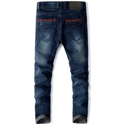 Straight Leg Panel Design JeansMens Pants<br>Straight Leg Panel Design Jeans<br><br>Closure Type: Zipper Fly<br>Fit Type: Regular<br>Material: Cotton, Polyester, Rayon<br>Package Contents: 1 x Jeans<br>Pant Length: Long Pants<br>Pant Style: Straight<br>Waist Type: Mid<br>Wash: Medium<br>Weight: 0.7500kg<br>With Belt: No