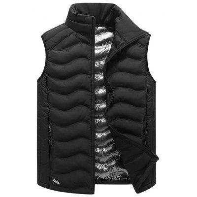 Stand Collar Full Zip Padded Vest