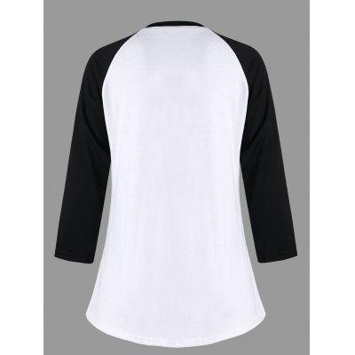 Raglan Sleeve Graphic Baseball T-shirtBlouses<br>Raglan Sleeve Graphic Baseball T-shirt<br><br>Collar: Round Neck<br>Material: Polyester, Spandex<br>Package Contents: 1 x T-shirt<br>Pattern Type: Print<br>Season: Fall, Spring<br>Shirt Length: Regular<br>Sleeve Length: Full<br>Style: Fashion<br>Weight: 0.3000kg
