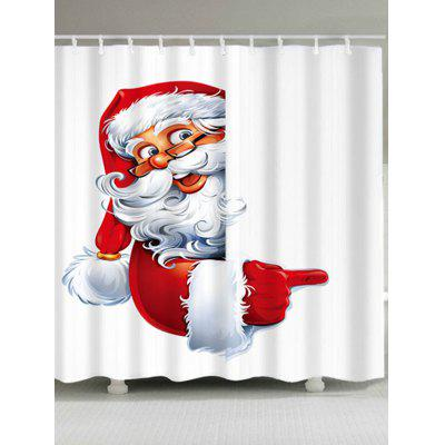 Santa Claus Printed Polyester Waterproof Christmas Shower Curtain