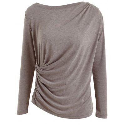 Ruched Casual Drape Blouse