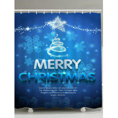 Snowflakes Christmas Ornaments Pattern Shower Curtain