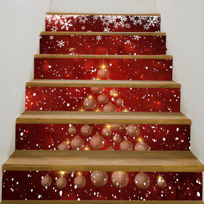 Snowflakes Balls Christmas Pattern Stair Stickers