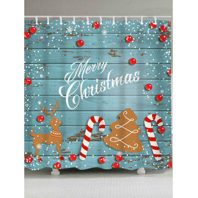 Christmas Printed Waterproof Polyester Shower Curtain