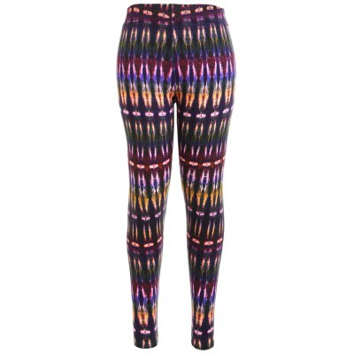 High Waist Multicolor Bamboo Print Workout Leggings