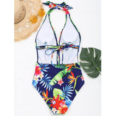 Floral Plunging Neck MonokiniLingerie &amp; Shapewear<br>Floral Plunging Neck Monokini<br><br>Bra Style: Padded<br>Elasticity: Elastic<br>Gender: For Women<br>Material: Chinlon<br>Neckline: Halter<br>Package Contents: 1 x Swimwear<br>Pattern Type: Floral<br>Support Type: Wire Free<br>Swimwear Type: One Piece<br>Waist: Natural<br>Weight: 0.2700kg