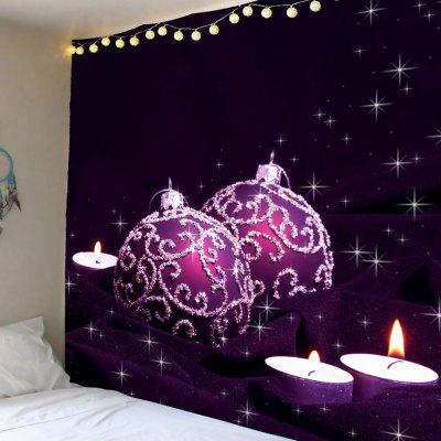 Purple Ball Candles Printed Waterproof Wall Tapestry