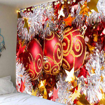 Merry Christmas Balls Printed Waterproof Wall Tapestry