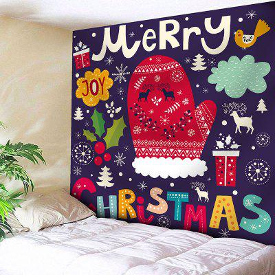 Bedroom Decor Christmas Elements Pattern Wall Tapestry