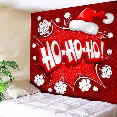Christmas Hat Letter Print Wall Decor Tapestry