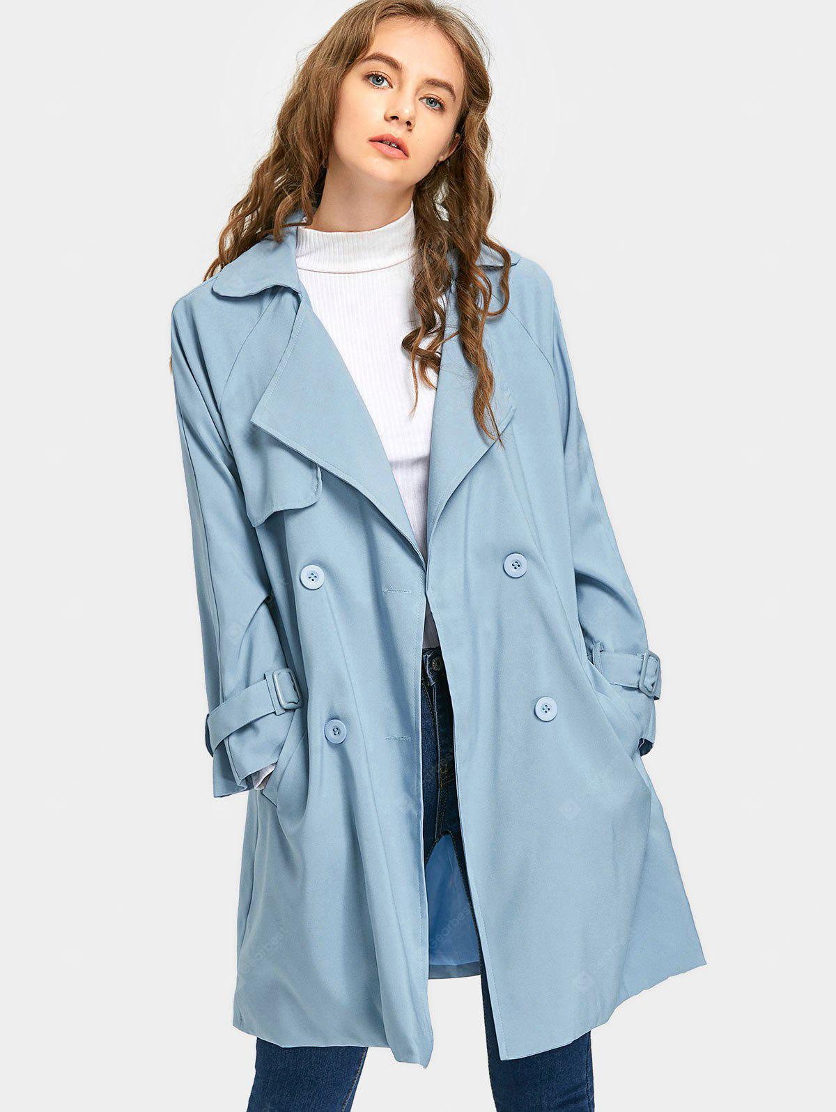 Double Breasted Lapel Coat with Belt