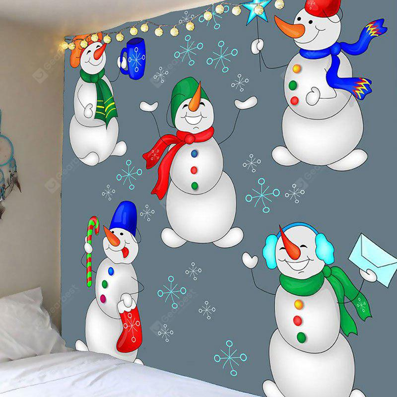 Snowman Candy Printed Waterproof Wall Tapestry