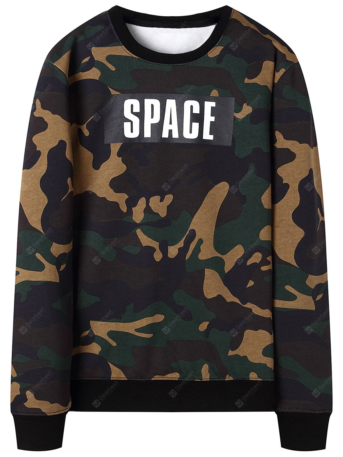 Sweat-shir Ras du Cou Homme Camouflage