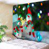 Christmas Two Snowmen Print Wall Decor Tapestry - COLORMIX