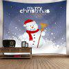 Buy Christmas Snowman Pattern Wall Decor Tapestry COLORMIX