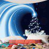 Starlight Christmas Gifts Pattern Wall Art Tapestry - BLUE AND BLACK