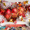 Merry Christmas Balls Printed Waterproof Wall Tapestry - RED