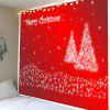 Christmas Snowflakes Tree Printed Waterproof Wall Tapestry - RED