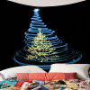 Christmas Blue Lighting Tree Printed Waterproof Wall Tapestry - COLORMIX