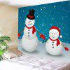 Buy Two Christmas Snowman Pattern Waterproof Wall Tapestry COLORFUL
