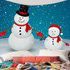 Two Christmas Snowman Pattern Waterproof Wall Tapestry - COLORFUL