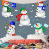 Snowman Candy Printed Waterproof Wall Tapestry - COLORFUL