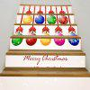 Colorful Christmas Balls Printed Decorative Stair Stickers - COLORFUL
