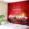 Wall Hanging Christmas Balls Pattern Tapestry - RED