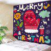 Bedroom Decor Christmas Elements Pattern Wall Tapestry - COLORFUL
