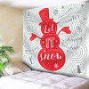 Christmas Elements Snowman Print Wall Hanging Tapestry - COLORMIX