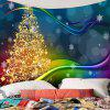 Colored Lines Christmas Tree Printed Waterproof Wall Tapestry - COLORFUL