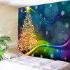 Buy Colored Lines Christmas Tree Printed Waterproof Wall Tapestry COLORFUL