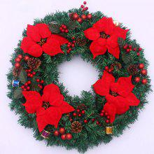 Home Decorations 50CM Flowers Christmas Wreath