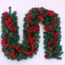 Home Decoration 270CM Bowknot Plastic Christmas Rattan
