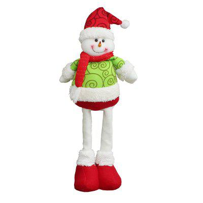 Snowman Patterned Retractable Christmas Doll