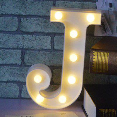 3D LED Lettre J Forme Décoration Night Light