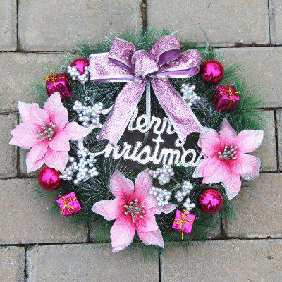 Home Decorations Bowknot Flower Plastic Christmas Wreath