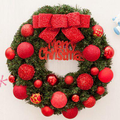 Home Decorations Bowknot Balls Merry Christmas Wreath