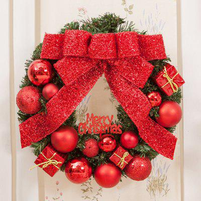 Festival Home Decorations Bowknot Balls Gifts Christmas Wreath ...