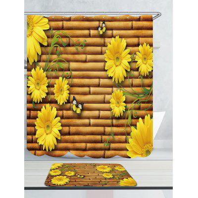 Bamboo Fence Sunflowers Printed Waterproof Shower CurtainShower Curtain<br>Bamboo Fence Sunflowers Printed Waterproof Shower Curtain<br><br>Materials: Polyester<br>Number of Hook Holes: W59 inch*L71 inch: 10; W71 inch*L71 inch: 12; W71 inch*L79 inch: 12<br>Package Contents: 1 x Shower Curtain 1 x Hooks (Set)<br>Pattern: Floral<br>Products Type: Shower Curtains<br>Style: Fashion