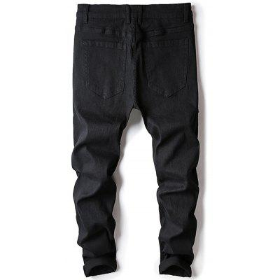Skinny Zip Fly Distressed JeansMens Pants<br>Skinny Zip Fly Distressed Jeans<br><br>Closure Type: Zipper Fly<br>Fit Type: Skinny<br>Material: Cotton, Polyester, Spandex<br>Package Contents: 1 x Jeans<br>Pant Length: Long Pants<br>Pant Style: Pencil Pants<br>Waist Type: Mid<br>Wash: Destroy Wash<br>Weight: 0.6200kg<br>With Belt: No