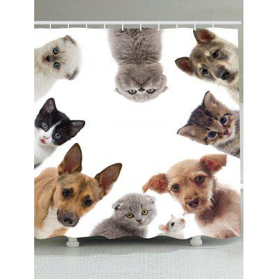 Animal Printed Waterproof Shower Curtain