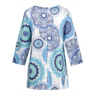 Plus Size Criss Cross Floral Print T-shirtPlus Size Tops<br>Plus Size Criss Cross Floral Print T-shirt<br><br>Collar: V-Neck<br>Embellishment: Criss-Cross<br>Material: Polyester<br>Package Contents: 1 x T-shirt<br>Pattern Type: Floral<br>Season: Spring, Fall<br>Shirt Length: Regular<br>Sleeve Length: Three Quarter<br>Style: Casual<br>Weight: 0.2900kg