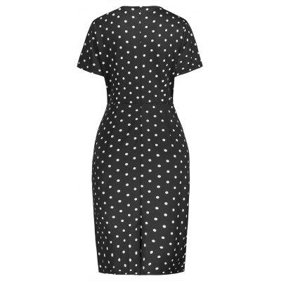 Plus Size Polka Dot Ruffle Pencil DressPlus Size Dresses<br>Plus Size Polka Dot Ruffle Pencil Dress<br><br>Dresses Length: Knee-Length<br>Embellishment: Ruffles<br>Material: Polyester<br>Neckline: Round Collar<br>Package Contents: 1 x Dress<br>Pattern Type: Polka Dot<br>Season: Fall, Spring, Summer<br>Silhouette: Bodycon<br>Sleeve Length: Short Sleeves<br>Style: Casual<br>Weight: 0.3800kg<br>With Belt: No