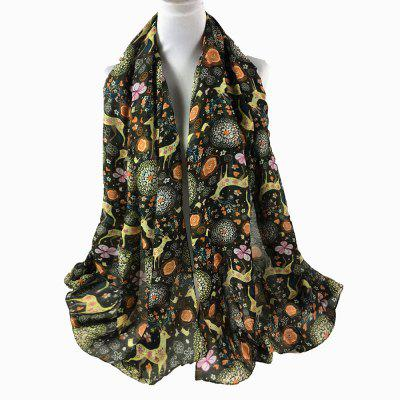 Vintage Christmas Deer and Flower Embellished Long ScarfWomens Scarves<br>Vintage Christmas Deer and Flower Embellished Long Scarf<br><br>Gender: Unisex<br>Group: Adult<br>Package Contents: 1 x Scarf<br>Pattern Type: Animal, Floral<br>Scarf Length: 180CM<br>Scarf Type: Scarf<br>Scarf Width (CM): 85CM<br>Season: Spring, Winter, Fall<br>Style: Fashion<br>Weight: 0.1200kg