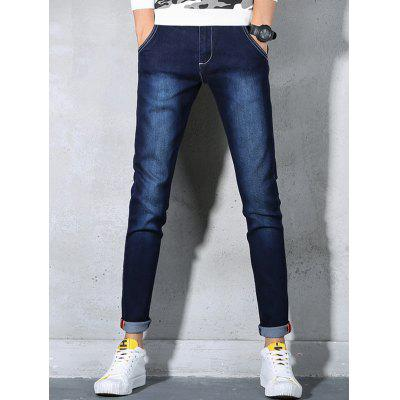 Slim Fit Zip Fly Stretch JeansMens Pants<br>Slim Fit Zip Fly Stretch Jeans<br><br>Closure Type: Zipper Fly<br>Fit Type: Regular<br>Material: Cotton, Polyester, Spandex<br>Package Contents: 1 x Jeans<br>Pant Length: Long Pants<br>Pant Style: Pencil Pants<br>Waist Type: Mid<br>Wash: Medium<br>Weight: 0.6500kg<br>With Belt: No